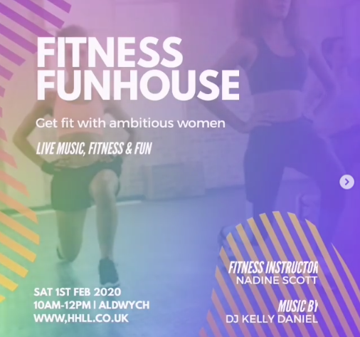 First workout of the year with Fitness Fun House