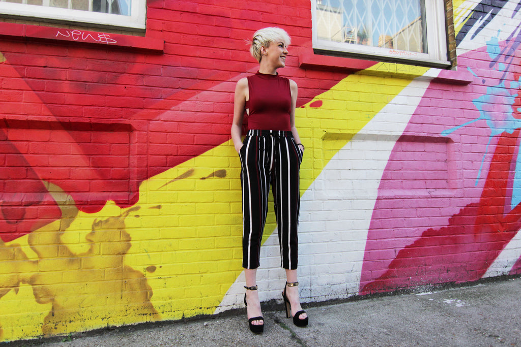 Stripe culotte Trousers
