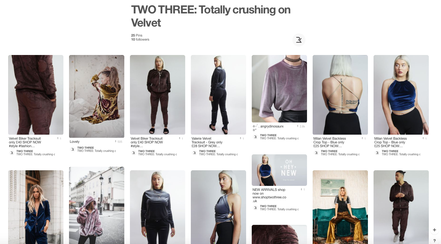 Shop Two Three Pinterest Board