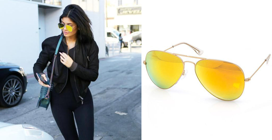 Bessie Sunglasses Yellow Mirror
