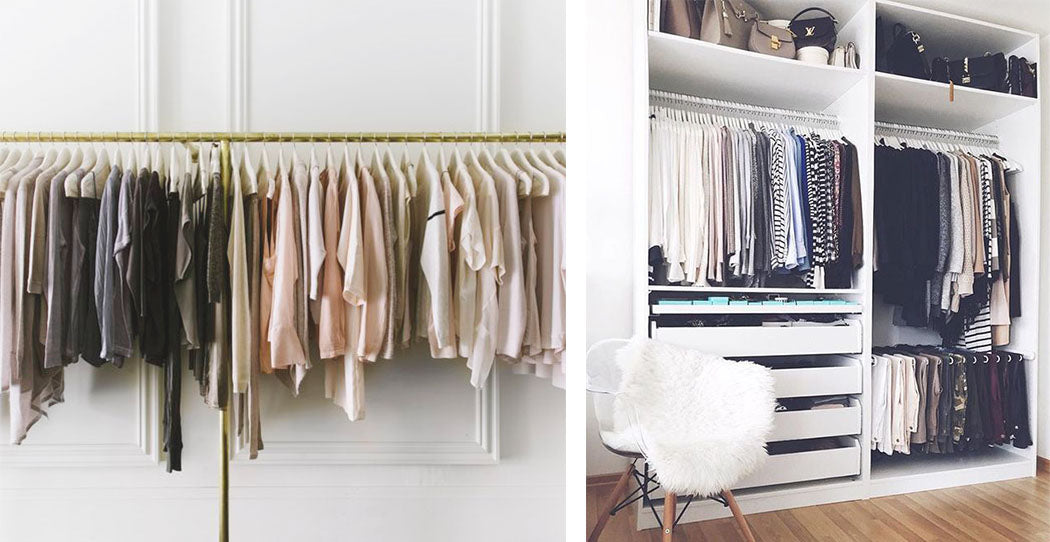 wardrobe organised by colour-TWO THREE BLOG