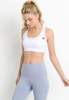 Womens - 'CONTROL' Racerback Sports Bra - White - Tops - TWOTHREE