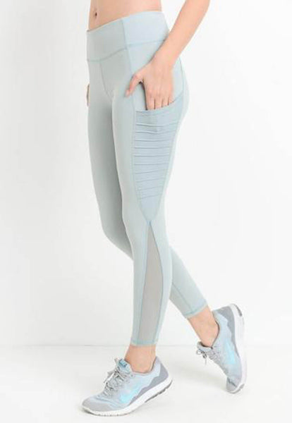 Womens - 'FIERCE' Pocket Leggings - Mint - Bottoms - TWOTHREE