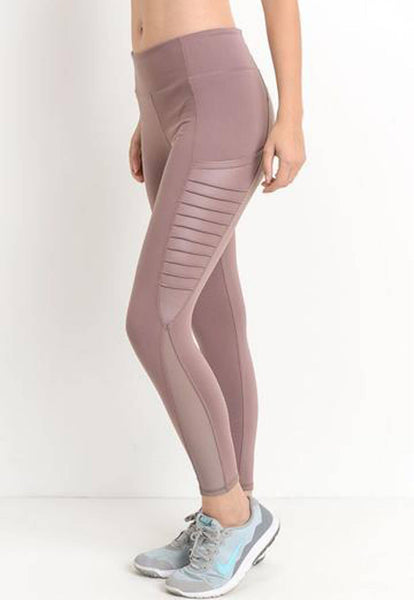 Womens - 'FIERCE' Pocket Leggings - Muave - Bottoms - TWOTHREE