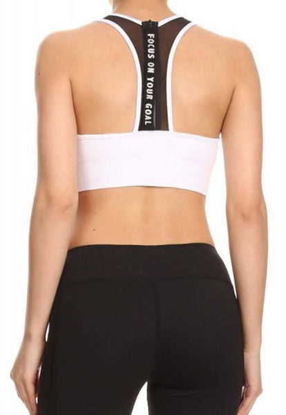 Womens - 'FOCUS' Mesh Bra - White - Tops - TWOTHREE