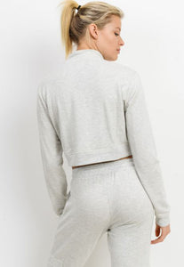 Womens - SWEAT Cropped Hoodie - Tops - TWOTHREE