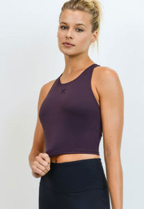 Womens - PUMP Racerback Sports Bra - Magenta - Tops - TWOTHREE