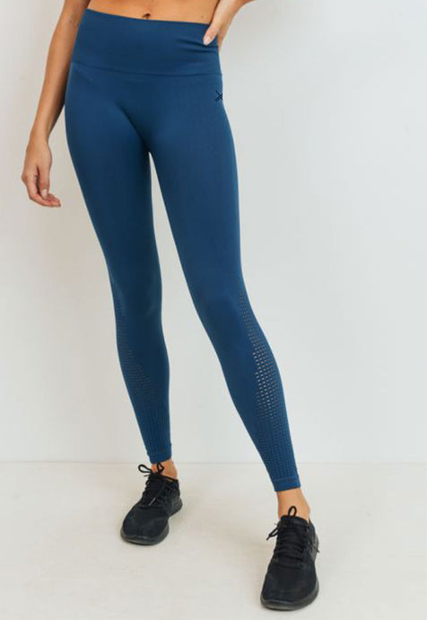 Womens - PRIME High Waist Seamless Leggings - Teal - Bottoms - TWOTHREE