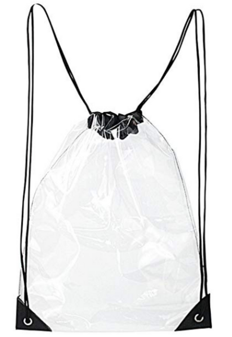 Womens - Transparent Drawstring Backpack - accessories - TWOTHREE