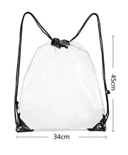 Load image into Gallery viewer, Womens - Transparent Drawstring Backpack - accessories - TWOTHREE