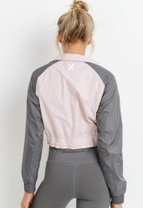 Womens - 'IMPACT' Cropped Windbreaker Jacket - Tops - TWOTHREE