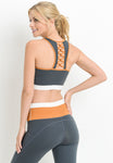Womens - 'COMBO' Lattice Back Sports Bra - Tops - TWOTHREE
