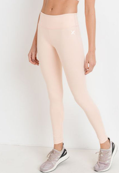 Womens - 'CROSS' High Waist Cut Out Leggings - Bottoms - TWOTHREE