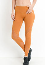 Load image into Gallery viewer, Womens - SCORPION High Waist Panel Leggings - Orange - Bottoms - TWOTHREE