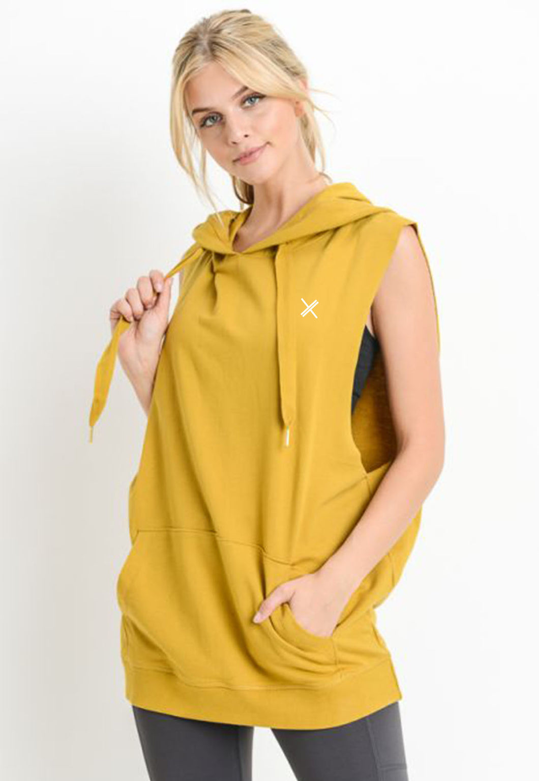 Womens - MUSCLE Oversized Sleeveless Hoodie - Tops - TWOTHREE