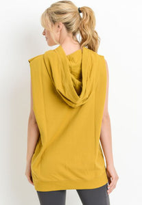 Womens - 'MUSCLE' Oversized Sleeveless Hoodie - Tops - TWOTHREE