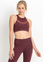 Womens - 'LIFT' Racerback Sports Bra - Burgundy - Tops - TWOTHREE