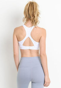 Womens - CONTROL Racerback Sports Bra - White - Tops - TWOTHREE