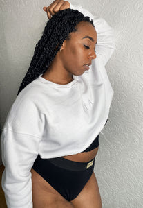 COZY Cropped Sweater - White