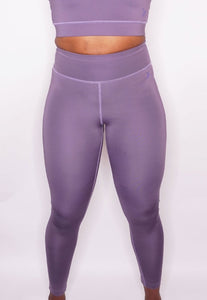Womens - CROSS High Waist Leggings - Muave - Bottoms - TWOTHREE