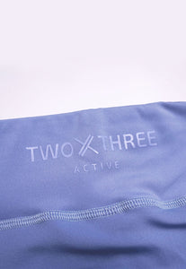Womens - ENERGY High Waist Leggings - Blue - Bottoms - TWOTHREE