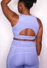 Load image into Gallery viewer, Womens - POWER Zip Crop Top - Blue - Tops - TWOTHREE