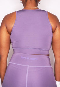 Womens - PRIME Sports Bra - Muave - Tops - TWOTHREE