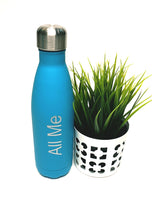 Load image into Gallery viewer, Womens - Blue Metal Drinking Bottle - All Me - accessories - TWOTHREE