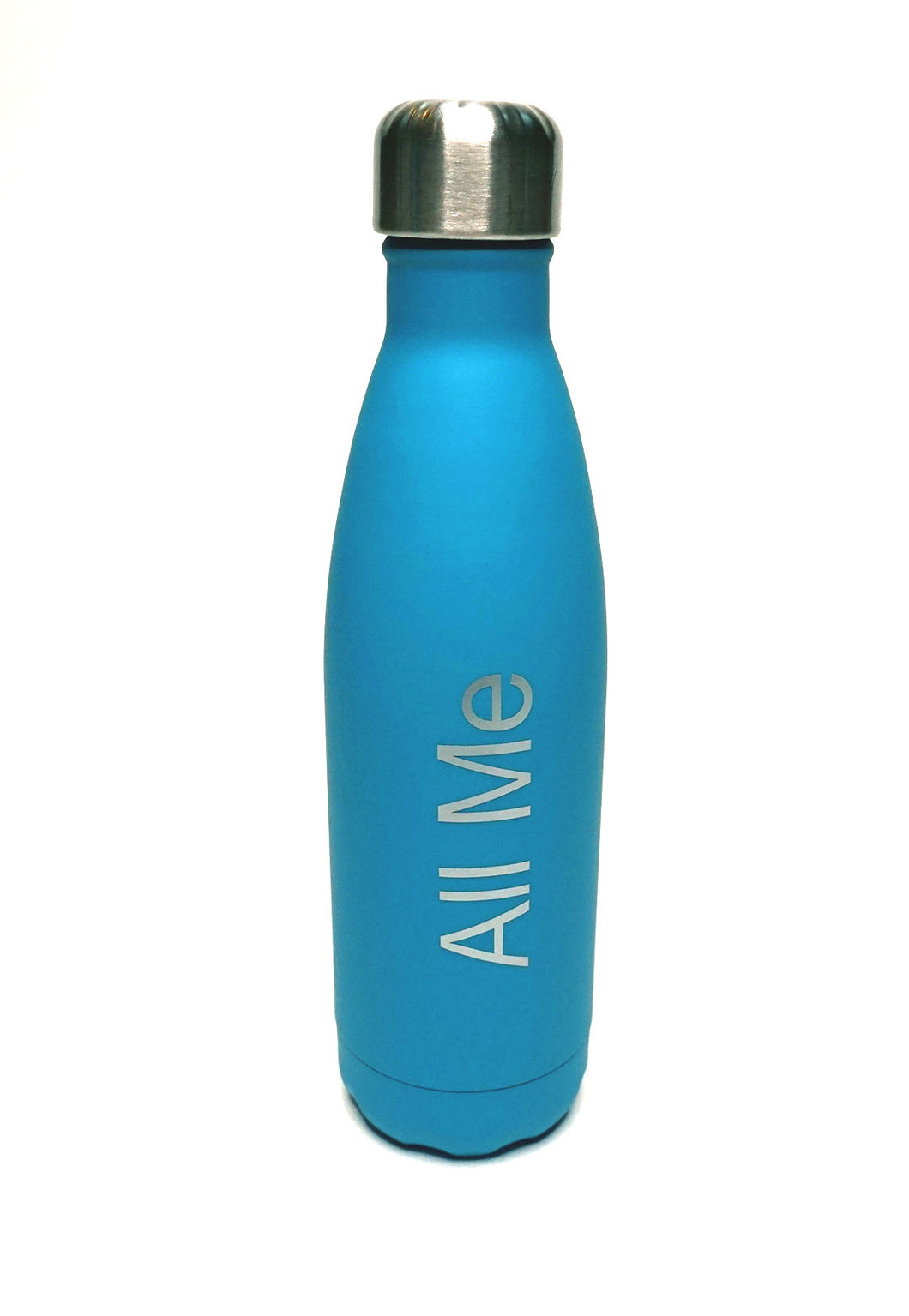 Womens - Blue Metal Drinking Bottle - All Me - accessories - TWOTHREE