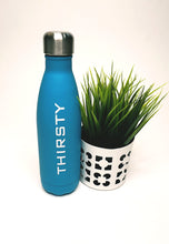 Load image into Gallery viewer, Womens - Blue Metal Drinking Bottle - Thirsty - accessories - TWOTHREE