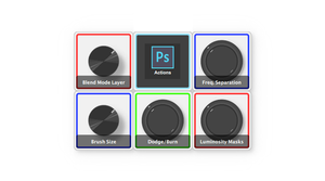 Using Palette Buttons to run Photoshop Actions