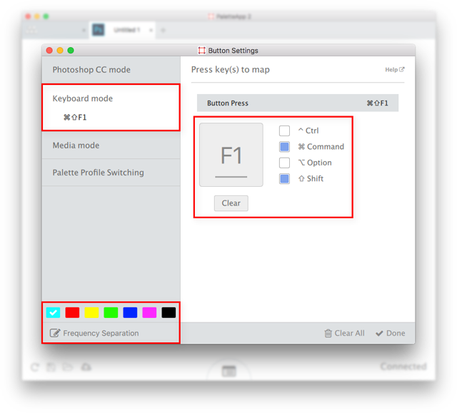 How to assign your custom Photoshop action shortcut to a Palette button