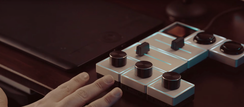Palette Gear, tactile, precision controller for photo and video editing
