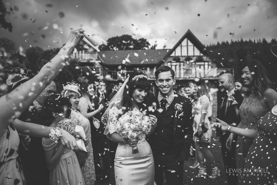 Couple at wedding by Lewis Fackrell photography