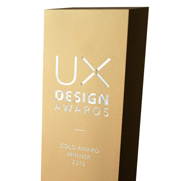 UX design gold award trophy