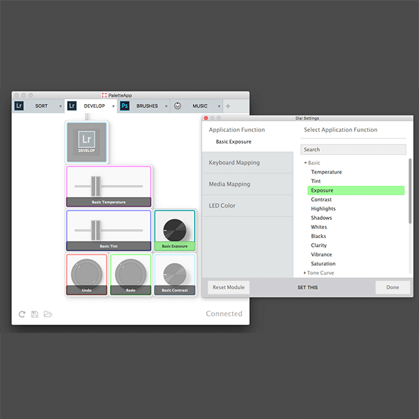 screenshot of Palette software app
