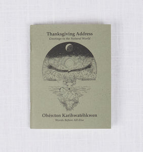 Thanksgiving Address Booklet