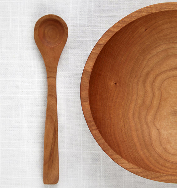 Wooden Bowl and Spoon Set