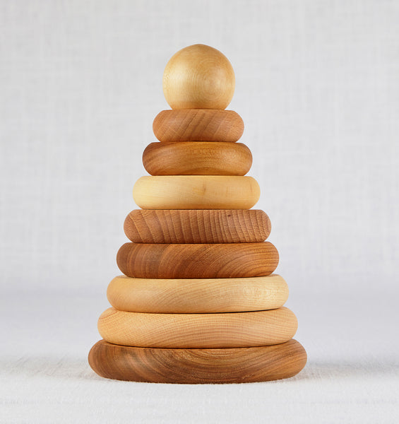 Wooden Rings Stacker