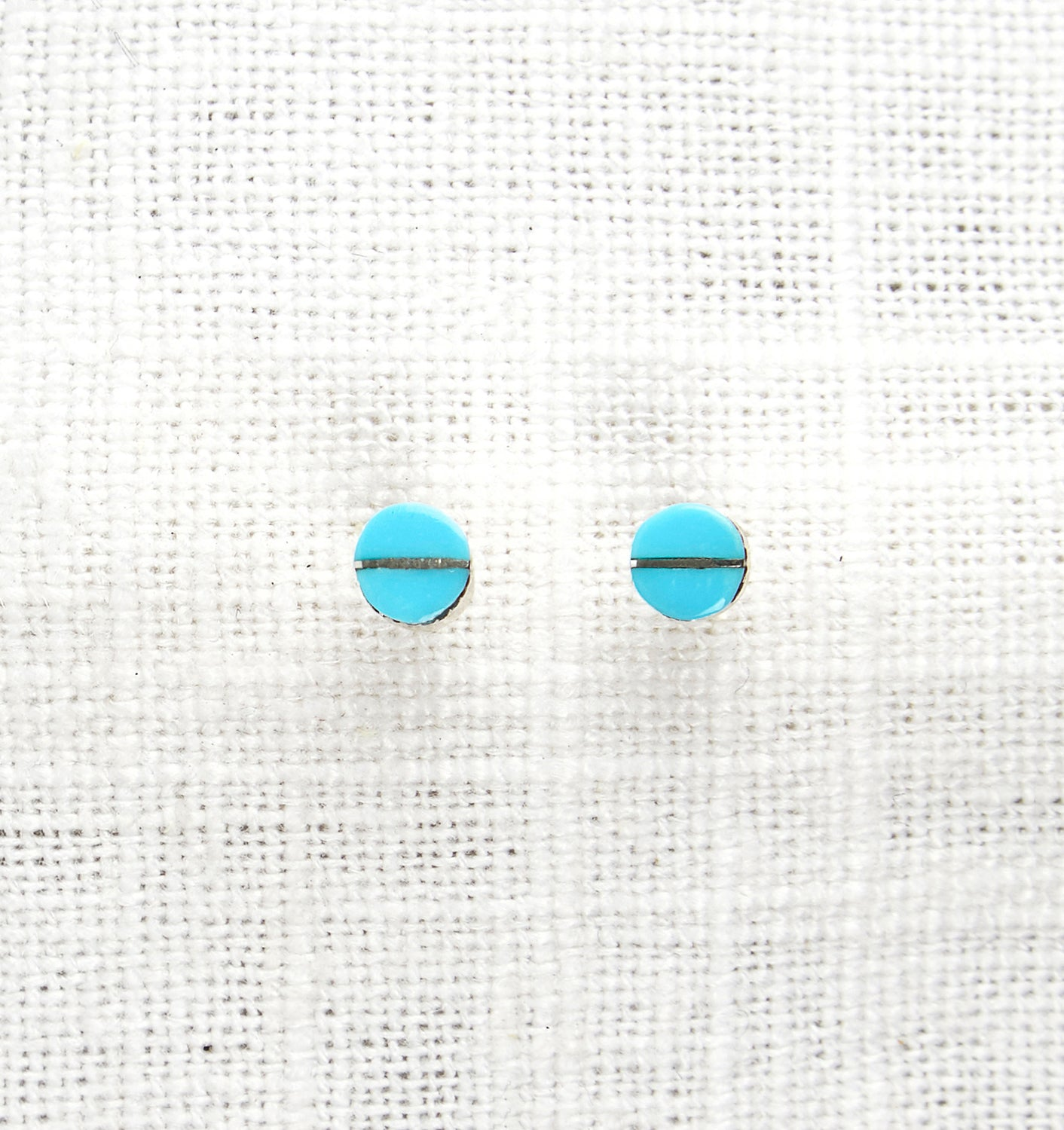 Turquoise and Silver Stud Earrings