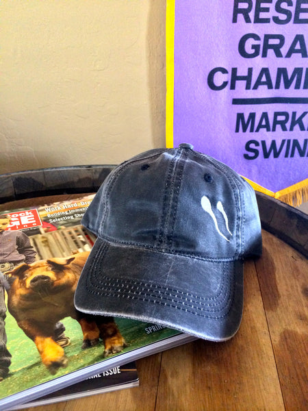 Grey Distressed Polo Style Adjustable Hat