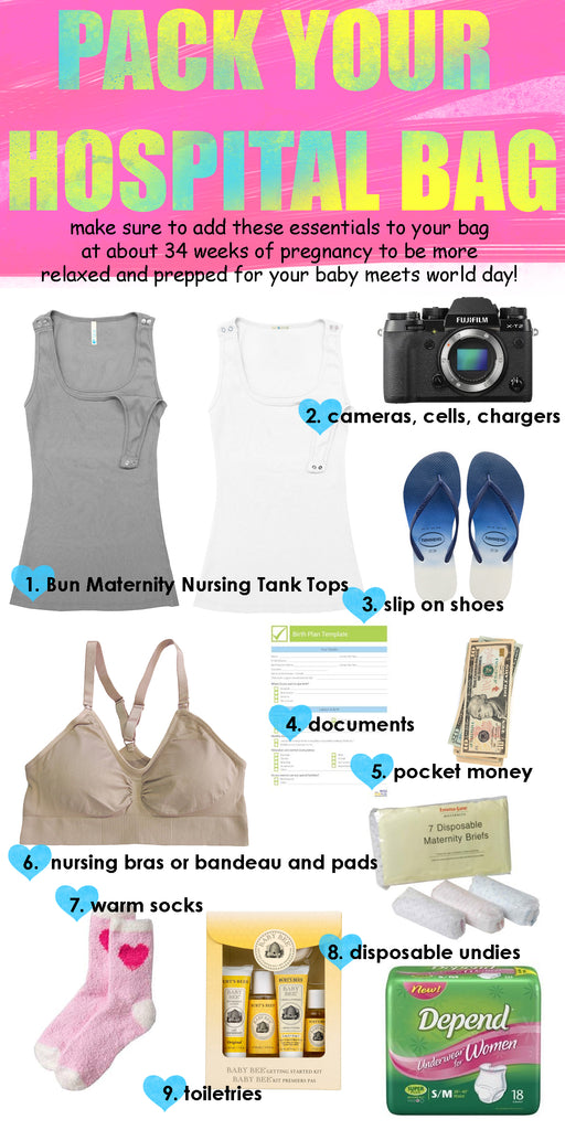 New Moms List of Essentials Must Haves to Pack Your Hospital Bag