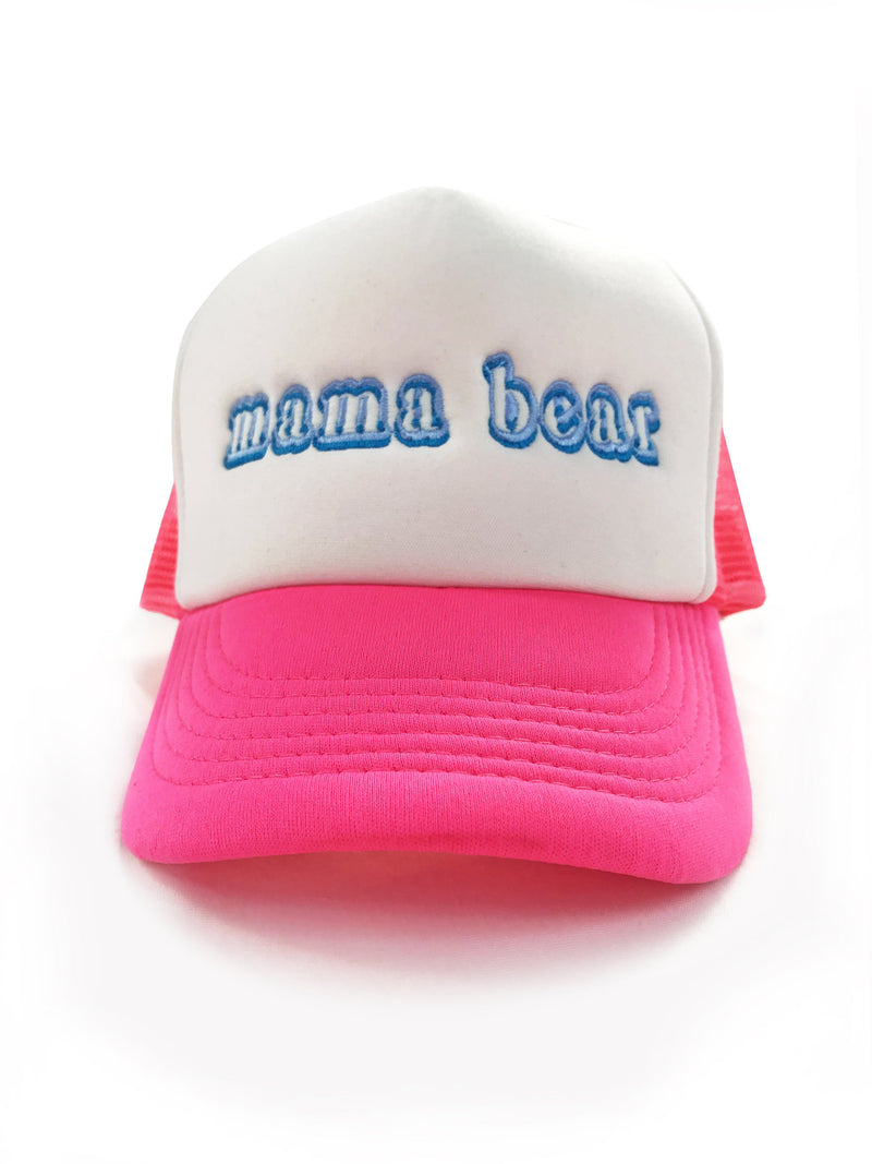 Mama Bear Trucker Hat, Hat, Bun Maternity Nursing Apparel- Bun Maternity