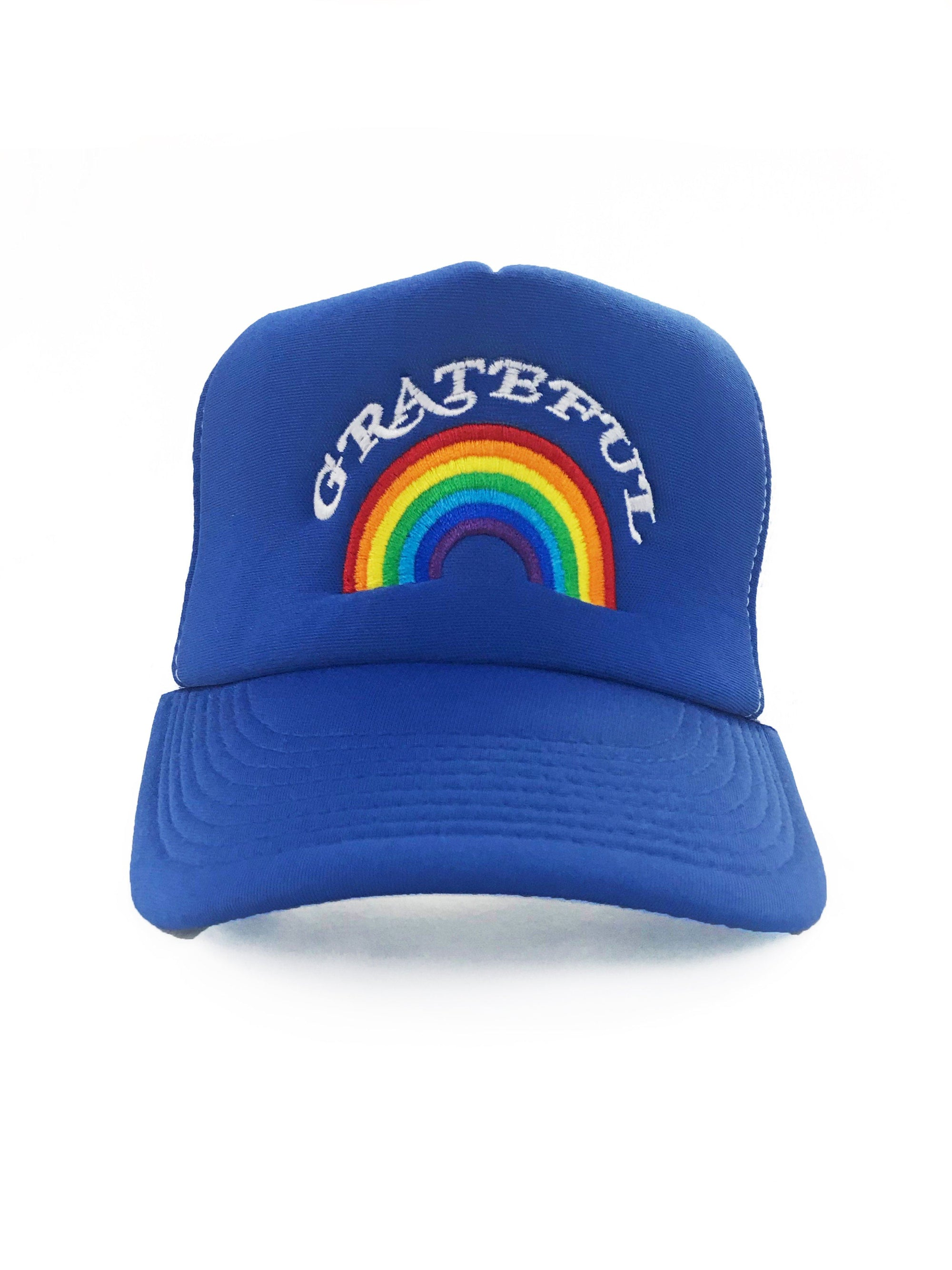 Grateful Rainbow Trucker Hat Hat Bun Maternity Nursing Apparel