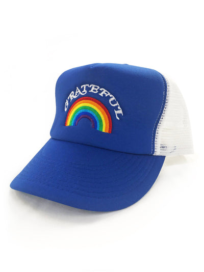 Grateful Rainbow Trucker Hat, Hat, Bun Maternity Nursing Apparel- Bun Maternity
