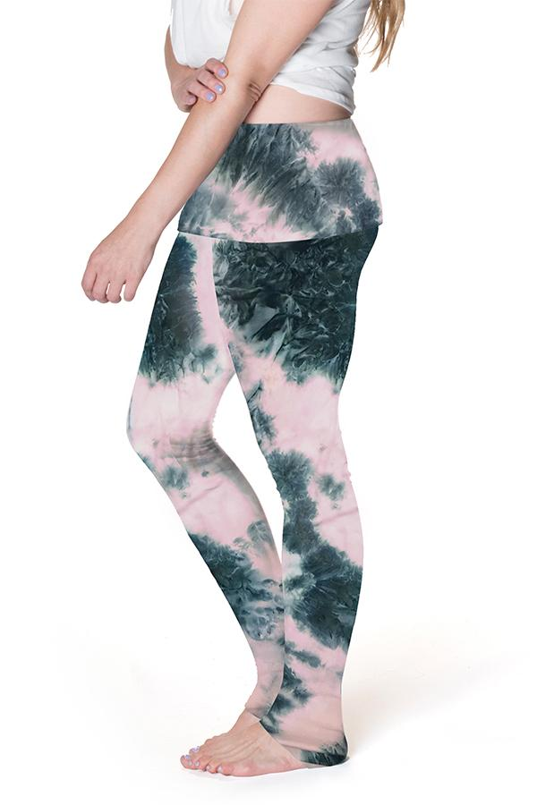 Perfect Postpartum Fold Over Legging - 3 Colors Pant Bun Maternity Nursing Apparel small 2/4 pink dust