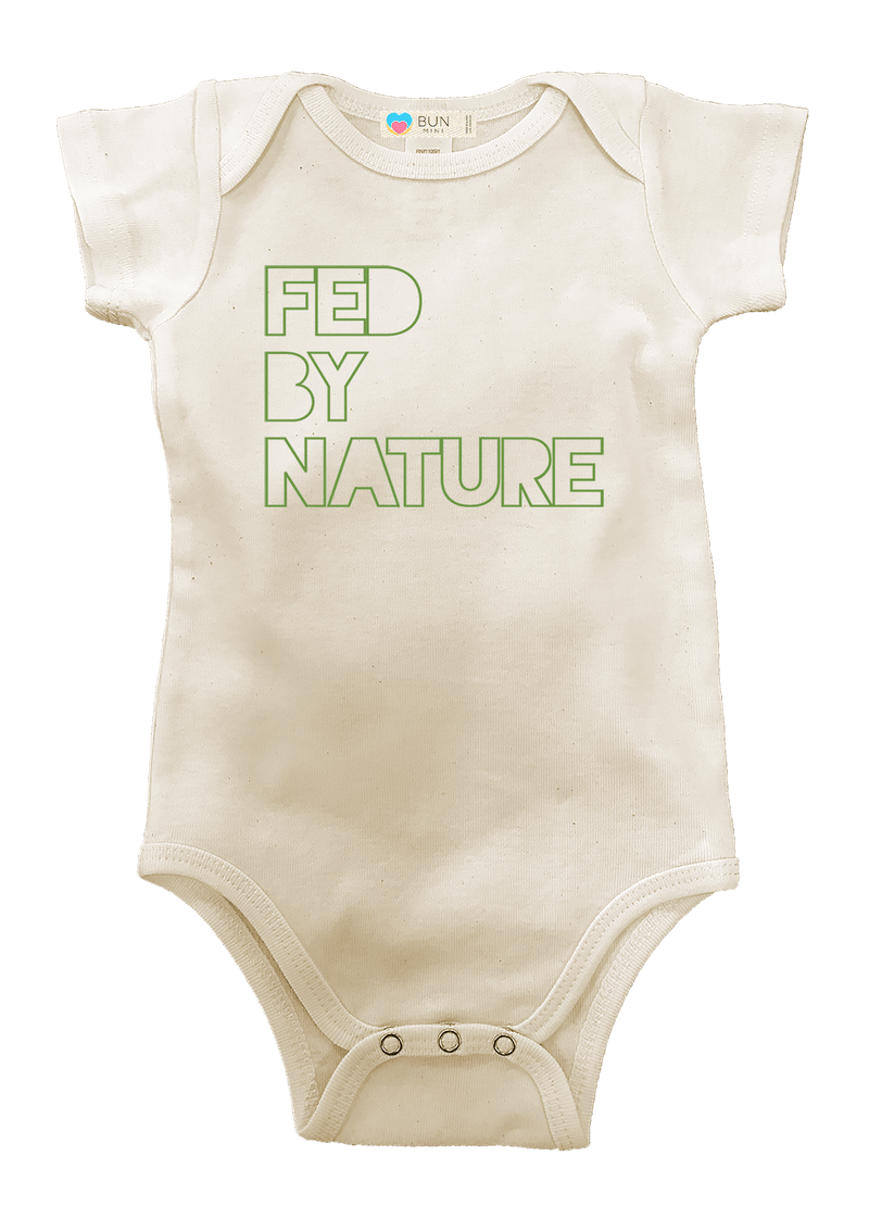 Fed By Nature Organic Baby Onesie, baby, Bun Maternity Nursing Apparel- Bun Maternity