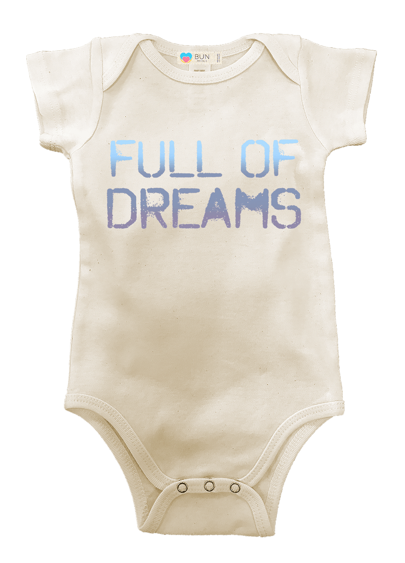 Full of Dreams Organic Baby Onesie, Baby, Bun Maternity Nursing Apparel- Bun Maternity