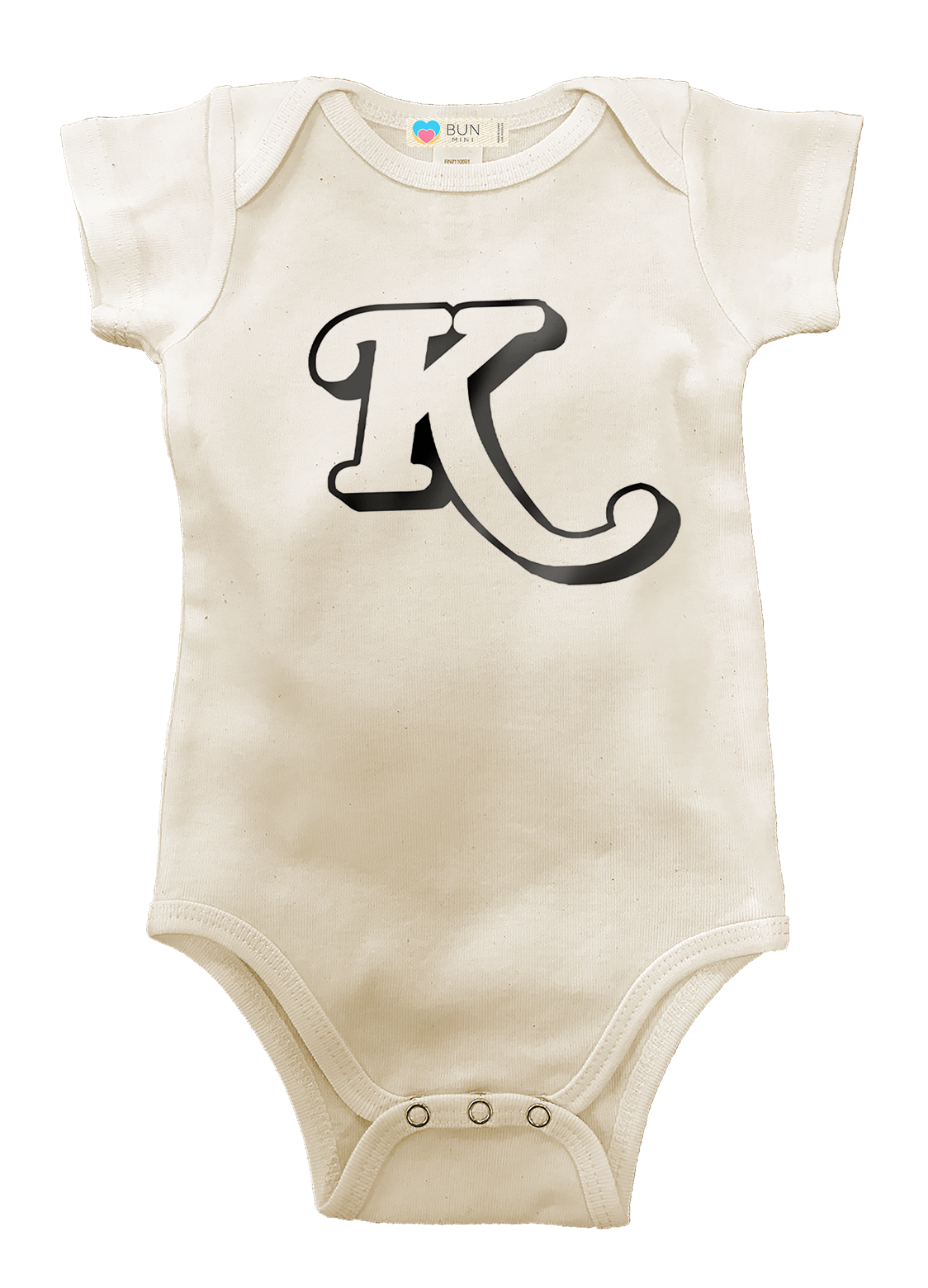 CUSTOMIZABLE Monogram Organic Baby Onesie, Baby, Bun Maternity Nursing Apparel- Bun Maternity