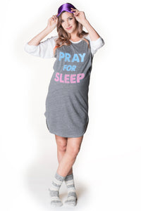 Pray for Sleep Pajama Dress, Sleepwear, Bun Maternity Nursing Apparel- Bun Maternity